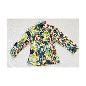 Mirror Image Artsy Graphic Blazer Jacket Small